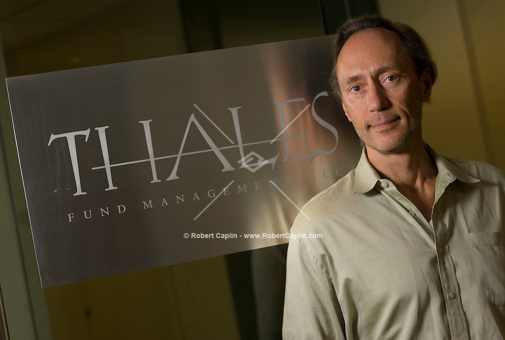 Hedge fund manager and  CEO of Thales Fund Management, Marek Fludzinski, poses for a portrait in his New York office. Nov. 6, 2008.