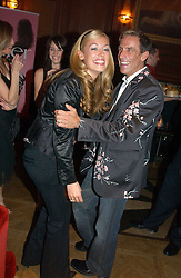 CAT DEELEY and BEN DE LISI at a party hosted by jewellers Adler to celebrate 20 years in London held at 5 Cavendish Square, London on 4th May 2005.<br /><br />NON EXCLUSIVE - WORLD RIGHTS