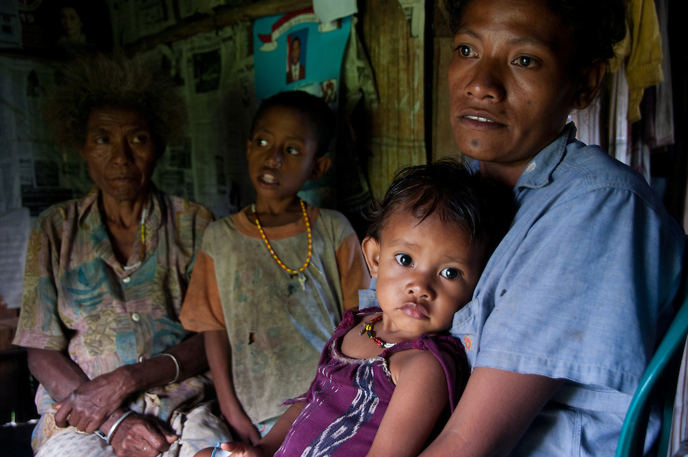 West Timor, Indonesia. Families are dealing with severe malnutrition.