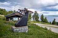 VILDMARKSVÄGEN JULI 2020<br /> Backarna i Stora Blåsjön erbjuder Sveriges fjärde högsta fallhöjd med flera nedfarter. 475 fallhöjdsmeter når man från toppen av Mesklumpen.<br /> Foto: Per Danielsson/Projekt.P