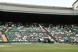 July 7, 2018 - London, London, United Kingdom - Wimbledon Tennis Championships-Day Six. Empty seats on  Centre Court  during the England v  Sweden in the quarter finals of the 2018 world cup , on Day Six of the Wimbledon Tennis Championship. (Credit Image: © Andrew Parsons/i-Images via ZUMA Press)