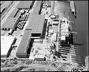 "Ackroyd 18335-05 ""FMC. aerials of yard 1000'. May 29, 1973."" (Gunderson, vicinity of new crane."