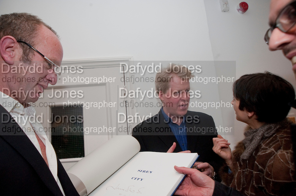 JOHNNIE SHAND KYDD; EARL OF SPENCER; FRANCESCA AMFITEROF, The  launch of Johnnie Shand Kydd's book Siren City. ( Photographs of Naples) Claire<br /> de Rouen books published  by Other Criteria. Charing Cross Rd. London. 30 November 2009
