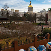 Steve Polk plaza and Georgia State Capitol, Atlanta