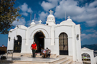 Athens, Greece. Mount Lycabettus is the highest point in the city. Saint George's Chapel.