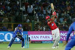May 8, 2018 - Jaipur, Rajasthan, India - Kings XI Punjab team batsman Axar Patel plays a shot during the IPL T20 match against Rajasthan Royals at Sawai Mansingh Stadium in Jaipur,Rajasthan,India on 8th May,2018.(Photo By Vishal Bhatnagar/NurPhoto) (Credit Image: © Vishal Bhatnagar/NurPhoto via ZUMA Press)