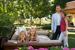 Princess Letizia of Spain celebrates her 40th Birthday. Madrid. Spain. Prince of Asturias Felipe de Borbon and Princess Letizia Ortiz and their daughters Princess Leonor and Sofia. ADVICE: NOT FOR BEEN PUBLISHED BEFORE 15/09/2012. (C) Cristina Garcia Rodero/Spanish Royal House/ Casa de su Majestad el Rey./i-Images