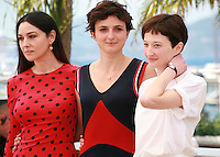 actress Monica Bellucci, Director Alice Rohrwacher and actress Alba Rohrwacher at the photo call for the film The Wonders (Le Meraviglie) at the 67th Cannes Film Festival, Sunday 18th May 2014, Cannes, France.