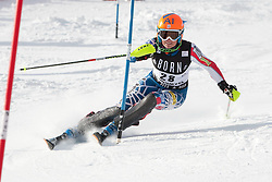 21.12.2010, Stade Emile Allais, Courchevel, FRA, FIS World Cup Ski Alpin, Ladies, Slalom, im Bild Sarah Schleper (USA) attacks a control gate whilst competing in the FIS Alpine skiing World Cup ladies slalom race in Courchevel 1850, France. EXPA Pictures © 2010, PhotoCredit: EXPA/ M. Gunn