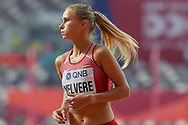 Liga Velvere (Latvia), Women's 800m Round 1, Heat 3, during the 2019 IAAF World Athletics Championships at Khalifa International Stadium, Doha, Qatar on 27 September 2019.