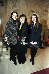 ARLENE PHILLIPS and her daughters ABI and ALANA at the Cirque du Soleil's gala premier of Quidam held at the Royal Albert Hall, London on 6th January 2009