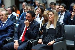 DAVIDE MAZZANTI E FRANCESCA PICCININI<br /> PRESENTAZIONE CAMPIONATO PALLAVOLO FEMMINILE SERIE A 2019-2020<br /> FOTO FILIPPO RUBIN / LVF