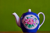 Russie, théière Russe Gardner en porcelaine // Russia, Gardner porcelaine teapot