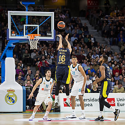March 2, 2018 - Madrid, Madrid, Spain - Kostas Sloukas during Fenerbahce Dogus Istanbul victory over Real Madrid (83 - 86) in Turkish Airlines Euroleague regular season game (round 24) celebrated at Wizink Center in Madrid (Spain). March 2nd 2018. (Credit Image: © Juan Carlos Garcia Mate/Pacific Press via ZUMA Wire)