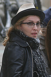 ©London News Pictures. 15/01/2011 Picture Credit Should read Neil Hall/London News Pictures.Madonna directs her new period film W.E. starring Abbie Cornish about the abdication of King Edward in London on 08/08/2010. Madonna shows her age during a stressful take.