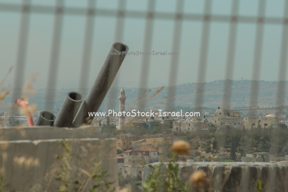 Leshem another Israeli settlement in the West Bank, Israel / Palestine. surrounded by a barbwire fence