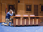 07 MAY 2009 -- PHOENIX, AZ: James Sidabras (CQ) from Phoenix during the National Day or Prayer services at the State Capitol in Phoenix Thursday. About 30 people came to the capitol to pray for government officials at the desks of legislators.   Photo by Jack Kurtz