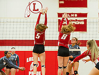 Volleyball Laconia versus Kennett.  Karen Bobotas for the Laconia Daily Sun