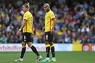 Younes Kaboul of Watford (r) looking on. Premier league match, Watford v AFC Bournemouth at Vicarage Road in Watford, London on Saturday 1st October 2016.<br /> pic by John Patrick Fletcher, Andrew Orchard sports photography.