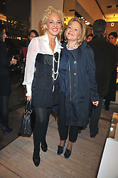 Left to right, AMANDA ELIASCH and KAY SAATCHI at a reception in aid of Children in Crisis held at the Roger Vivier store, 188 Sloane Street, London on 19th March 2009.