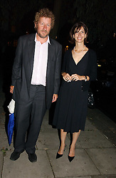 Writer SEBASTIAN FAULKS and his wife VERONICA at a party to celebrate the publication of Notting Hell by Rachel Johnson held in the gardens of 1 Rosmead Road, London W11 on 4th September 2006.<br /><br />NON EXCLUSIVE - WORLD RIGHTS