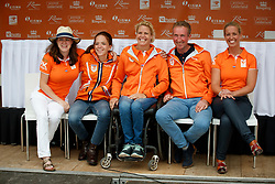 Team Netherlands, Voets Sanne, Krijnsen Lotte, Den Dulk Nicole, Hoismar Frank, Heuitink Joyce <br /> Nederlands Kampioenschap Dressuur <br /> Ermelo 2017<br /> © Hippo Foto - Dirk Caremans<br /> 16/07/2017