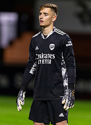 LONDON, ENGLAND - Friday, October 30, 2020: Arsenal's goalkeeper Hubert Graczyk during the Premier League 2 Division 1 match between Arsenal FC Under-23's and Liverpool FC Under-23's at Meadow Park. Liverpool won 1-0. (Pic by David Rawcliffe/Propaganda)