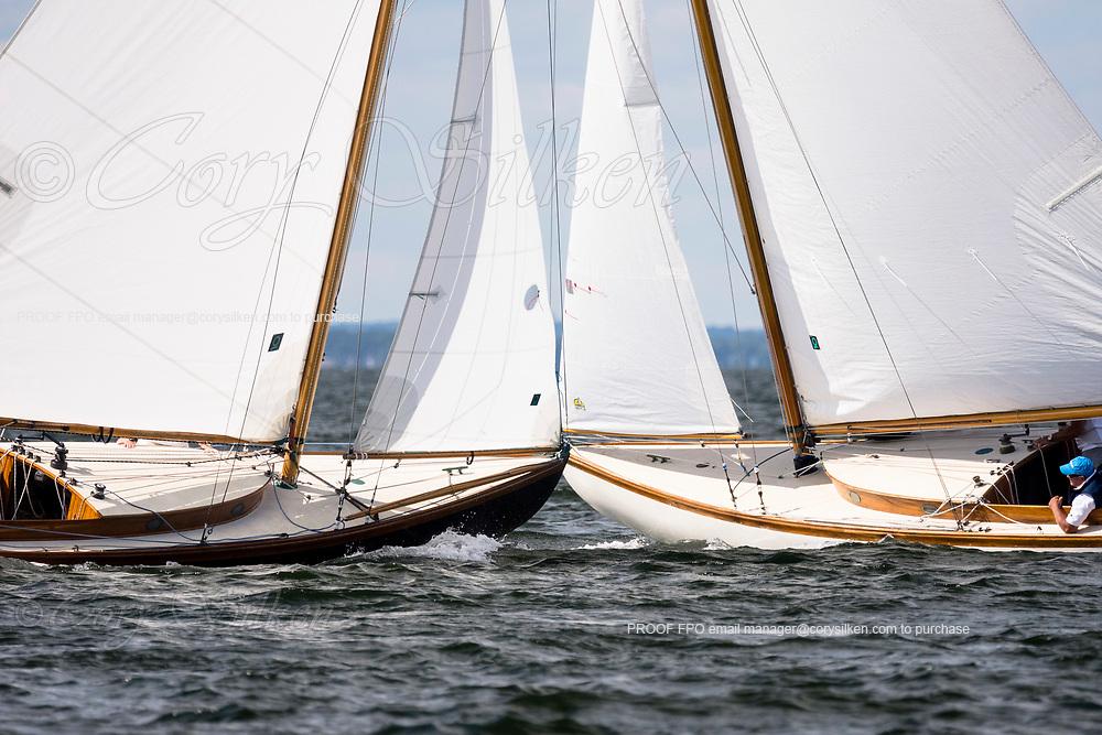 Vindex and Osprey sailing in the Panerai Herreshoff Classic Yacht Regatta.