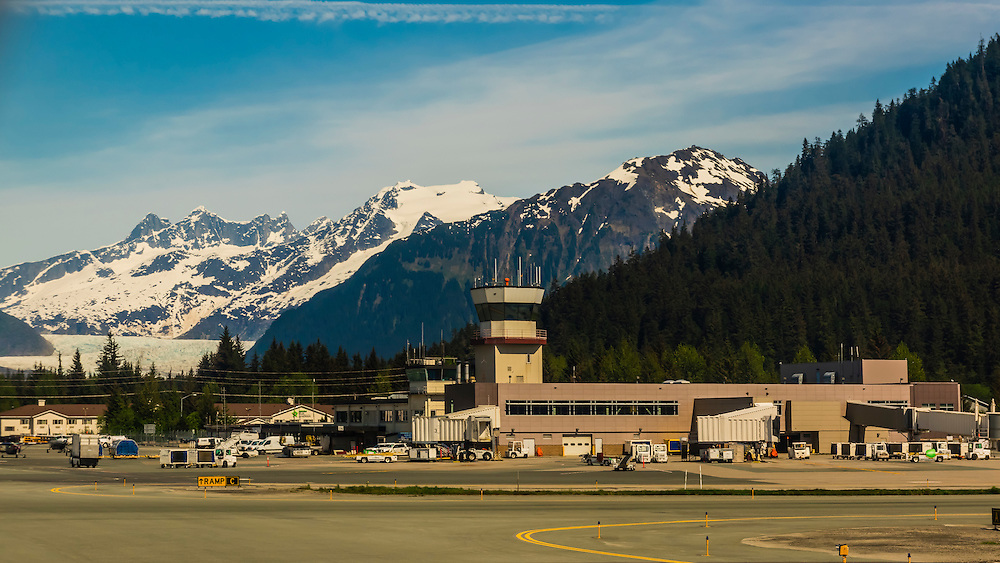 Juneau International Airport, Juneau, Alaska USA.
