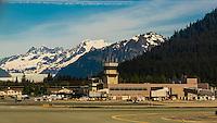 Juneau International Airport, Juneau, Alaska USA.
