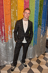 Patrick Gibson at a cocktail supper hosted by BOTTLETOP co-founders Cameron Saul & Oliver Wayman, along with Arizona Muse, Richard Curtis & Livia Firth to launch the #TOGETHERBAND campaign at The Quadrant Arcade on April 24, 2019 in London, England.<br /> <br /> ***For fees please contact us prior to publication***