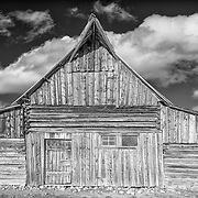 The historic T.A. Moulton Barn of Mormon Row in Grand Teton National Park, WY.