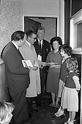 23/05/1963<br /> 05/23/1963<br /> 23 May 1963<br /> Mayor of Cork canvasses for Dublin Bye Election. Alderman Sean Casey T.D. mayor of Cork (2nd left) joined in the Labour Party door to door canvassing for their candidate in the Dublin North-East Bye Election, Councillor Denis Larkin (3rd from left) while passing through Dublin on his way to London. Photo shows when he called with  Councillor Michael Mullins T.D. (left), at the home of Mrs Michael Hackett, 72 Croke Villas, with her children Caroline, Anne and Clair.