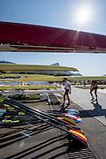 "Rio de Janeiro. BRAZIL.   2016 Olympic Rowing Regatta. Lagoa Stadium,<br /> Copacabana,  ""Olympic Summer Games""<br /> Rodrigo de Freitas Lagoon, Lagoa. Local Time 15:10:32   Friday  05/08/2016 <br /> <br /> [Mandatory Credit; Peter SPURRIER/Intersport Images]"