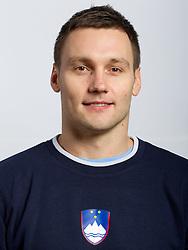 Luka Zvizej during practice session of Slovenian Handball Men National Team, on November 4, 2011, in Zrece, Slovenia.  (Photo by Vid Ponikvar / Sportida)