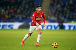 5 February 2017 - Premier League - Leicester City v Manchester United - Marcos Rojo of Manchester United - Photo: Marc Atkins / Offside.