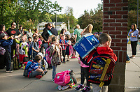 Elm Street School 1st day.  Karen Bobotas for the Laconia Daily Sun