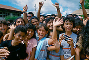 Young people in Rio de Janeiro, Brazil