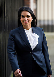 © Licensed to London News Pictures. 23/02/2016. London, UK. Minister of State for Employment PRITI PATEL leaves number 10 Downing Street in Westminster, London after cabinet meeting. Photo credit: Ben Cawthra/LNP