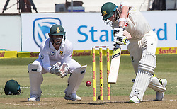 Durban. 010318. Steve Smith of Australia strikes the ball  during the first Sunfoil Test Match againts South Africa in Durban. Picture Leon Lestrade/African News Agency/ANA
