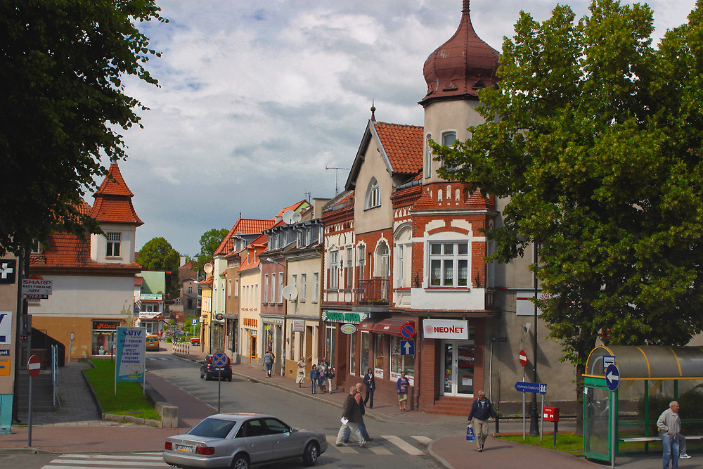 Centrum Mrągowa, Polska<br /> Centre of Mrągowo, Poland
