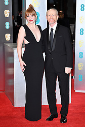 Bryce Dallas Howard and Ron Howard attending the EE British Academy Film Awards held at the Royal Albert Hall, Kensington Gore, Kensington, London. Picture date: Sunday February 12, 2017. Photo credit should read: Doug Peters/ EMPICS Entertainment