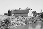 9969-2607. Dairy barn on E. L. Reeder farm, Sauvie Island. August 19, 1936.