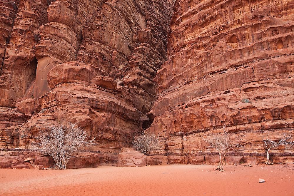 Entrance to Khazali Canyon, Wadi Rum, Jordan.