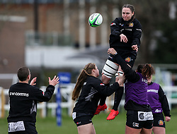 Poppy Leitch of Exeter Chiefs, Olivia De Merchant of Exeter Chiefs, Ebony Jefferies of Exeter Chiefs and Laura Delgado of Exeter Chiefs  - Mandatory by-line: Arron Gent/JMP - 06/03/2021 - RUGBY - Twyford Avenue - Acton, England - Wasps FC Ladies v Exeter Chiefs Women - Allianz Premier 15s