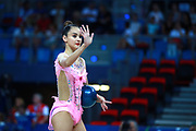 Alina Harnasko is a Belarusian gymnast was born 9 August 2001 in Minsk. Alina represented in the individual competitions for her country at the 2017 World Championships in Pesaro, she qualified in the clubs final and finished in 7th place. She finished 13th in the all-around final.