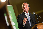 Former South Carolina Gov. Mark Sanford, the Republican candidate for the open Congressional seat, makes a point during a debate against his democratic opponent Elizabeth Colbert Busch at the Citadel on April 29, 2013 in Charleston, South Carolina.