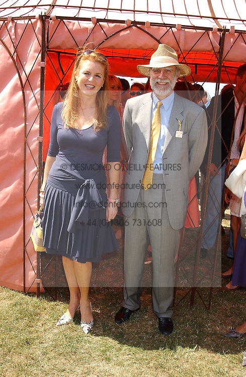 SARAH, DUCHESS OF YORK and VISCOUNT COWDRAY at the Veuve Clicquot sponsored Gold Cup Final or the British Open Polo Championship held at Cowdray Park, West Sussex on 17th July 2005.<br /><br />NON EXCLUSIVE - WORLD RIGHTS
