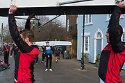 Hammersmith. London. United Kingdom,  Hammersmith. London.  General View, crews boating from the Furnivall SC, Pontoon 2018 Men's Head of the River Race.  Championship Course, River Thames, 2018 Men's Head of the River Race. , Championship Course, Putney to Mortlake. River Thames, <br /> <br /> Sunday   11/03/2018<br /> <br /> [Mandatory Credit:Peter SPURRIER Intersport Images]<br /> <br /> LEICA CAMERA AG  LEICA Q (Typ 116)  1/250 sec. 28 mm f.8 200 ISO.  42.6MB