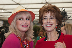 © Licensed to London News Pictures. 20/05/2013. London, England. Joanna Lumley and Maureen Lipman. Celebrities at Press Day Monday of the RHS Chelsea Flower Show. Photo credit: Bettina Strenske/LNP